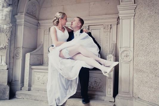 Sesja ślubna w magicznym zamku - Kasia i Błażej