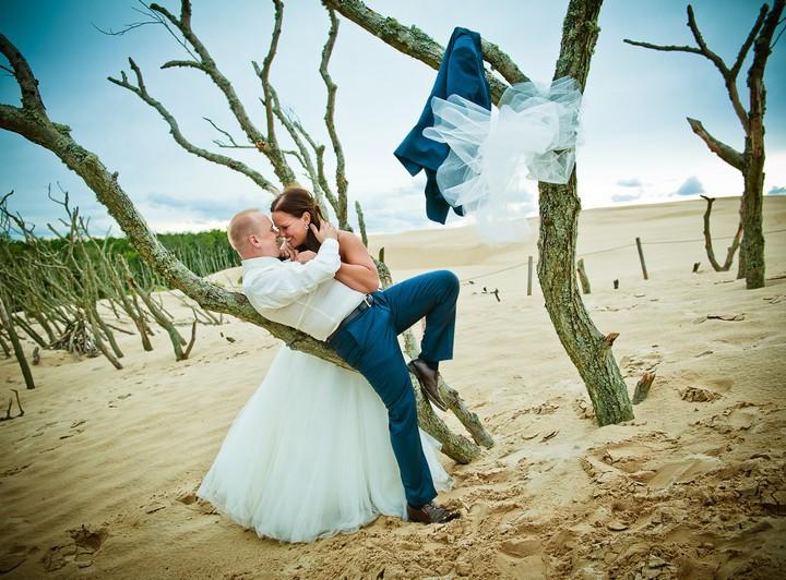 Sesja ślubna nad morzem Łeba - Kasia i Tomek