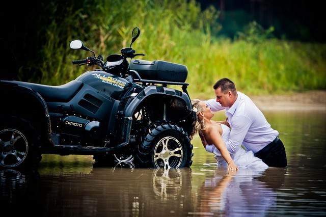 Odjazdowy plener ślubny